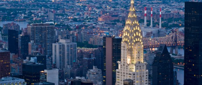 """""""A night view of some of the Manhattan skyscrapers, including the Chrysler BuildingSimilar images:"""""""
